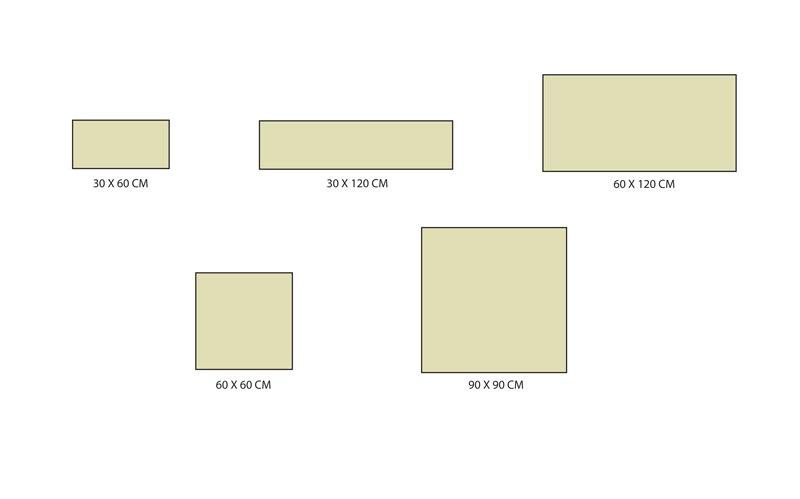 Formats carrelage série 4 stones