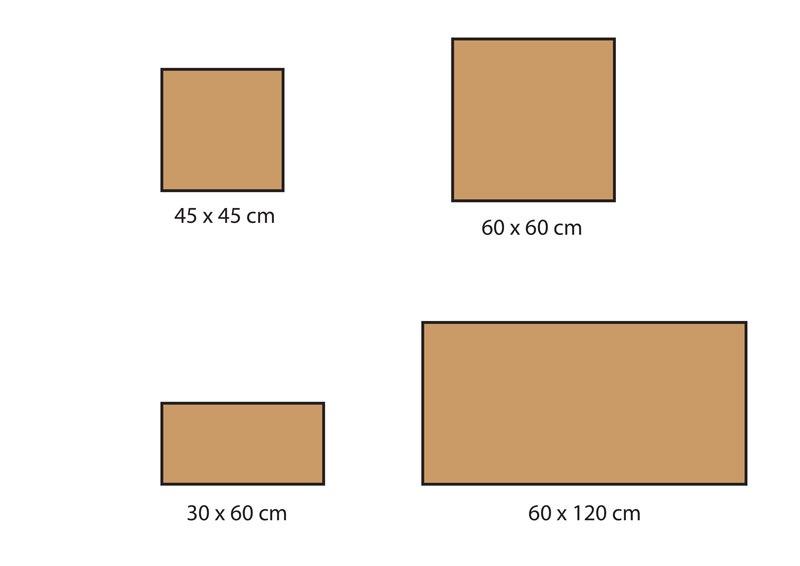 Formats carrelage série Quartz Stones