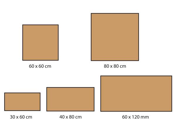 Formats carrelage Castelvetro série Concept Land